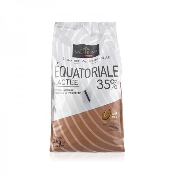 Kuvertüre Equatoriale Lactée 35% vollmilch
