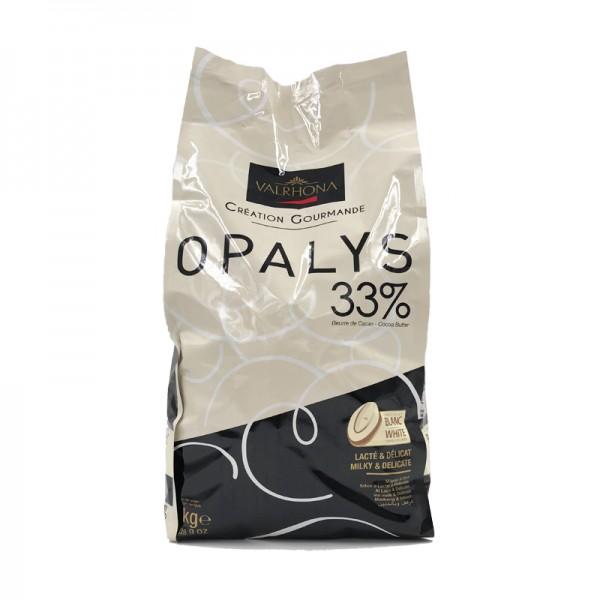 Kuvertüre Opalys 33% weiß, Valrhona