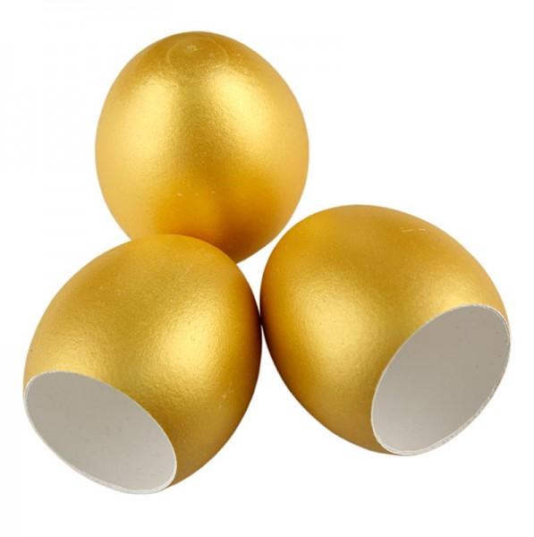 Leere Eierschale, gold