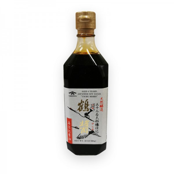 Japanische Sojasauce gereift 4 Jahre Tsurubishio 500 ml/Fl