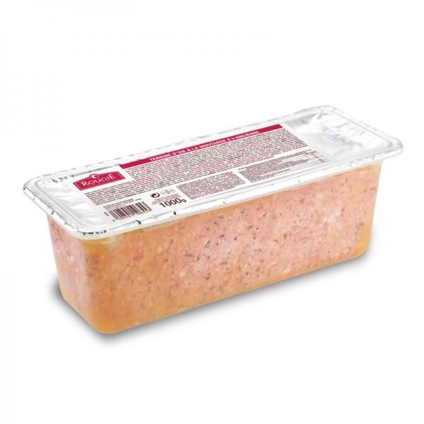 Gänsefleisch-Terrine mit Senfkorn