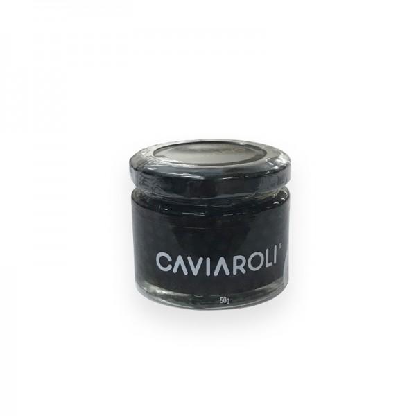 Kürbiskernölkaviar mit Kürbiskernöl