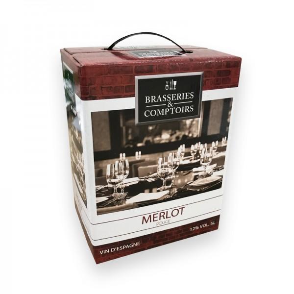 Kochwein Rot Merlot Bag in Box 5L