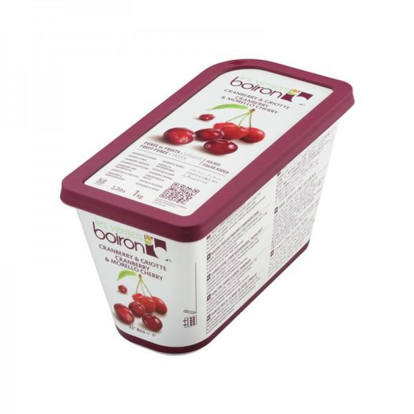 Cranberry-Sauerkirschpüree, leicht gezuckert, TK