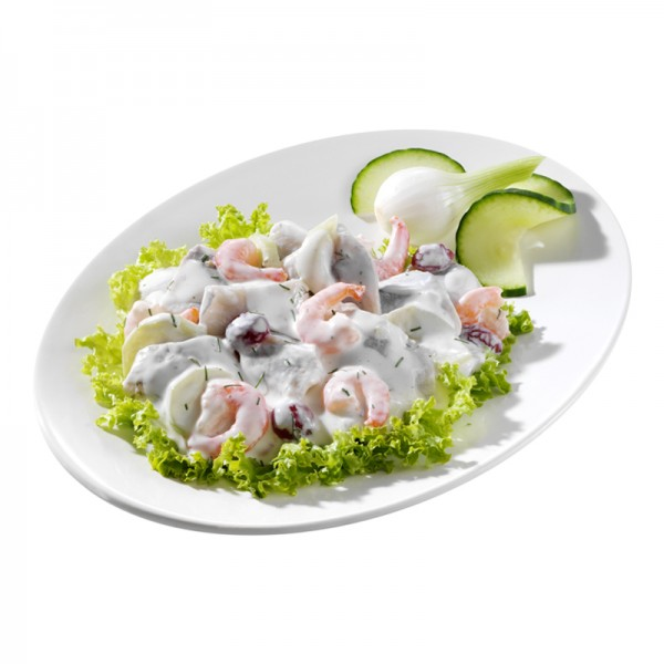 Usedomer Fischerschmaus - Heringshappen mit Shrimps