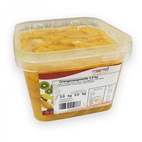 Orangensegmente 3 ltr / 2 kg netto