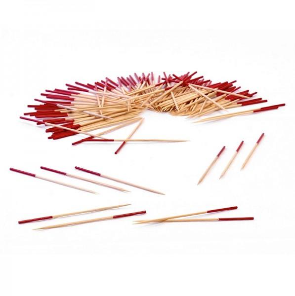 Holzspieße mit rotem Ende 9 cm