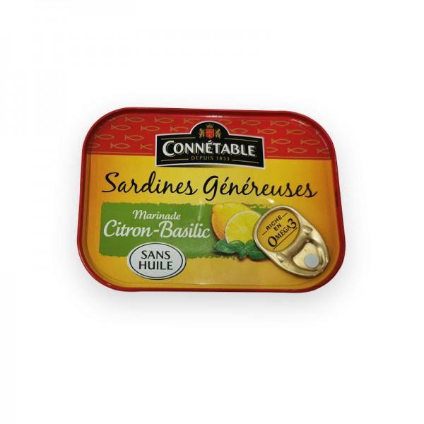 Sardinen in Zitrone & Basilikum, ohne Öl