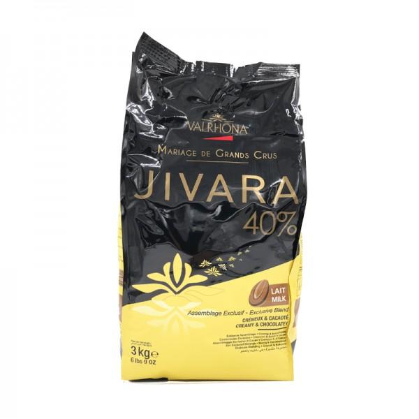Kuvertüre Jivara 40% vollmilch, Valrhona