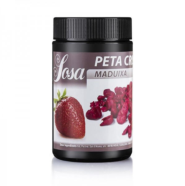 """ Erdbeere"" Peta Crispy mit Kakaobutter ummantelt von Sosa"