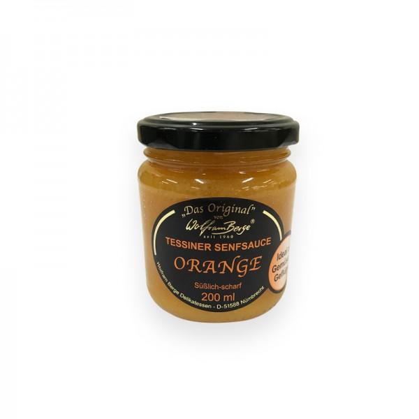 Orangensenfsauce 200mlGl CH Tessiner Spezialität