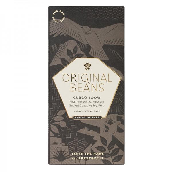 Schokoladentafel Cusco 100%, BIO, Original Beans