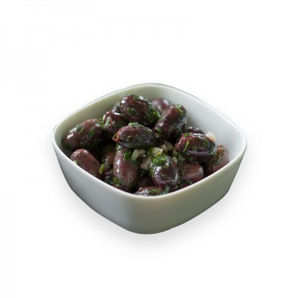 Kalamata Oliven ohne Stein in Kräutermarinade