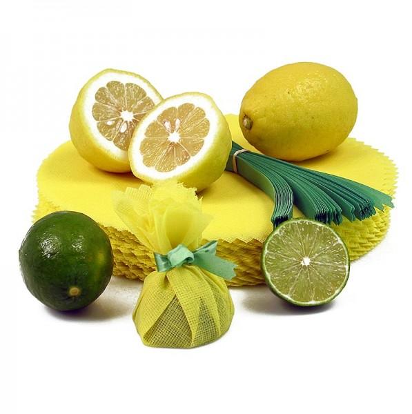 Lemon Wraps - Zitronenserviertuch mit grüner Krawatte