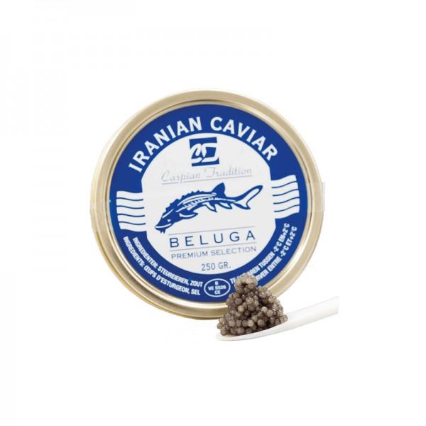 Kaviar Beluga Malossol Zucht Iran 250g Huso Huso