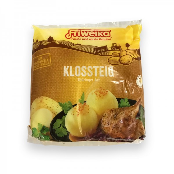Thüringer Art Klossteig 6x2 kg Halb roh und halb gekocht