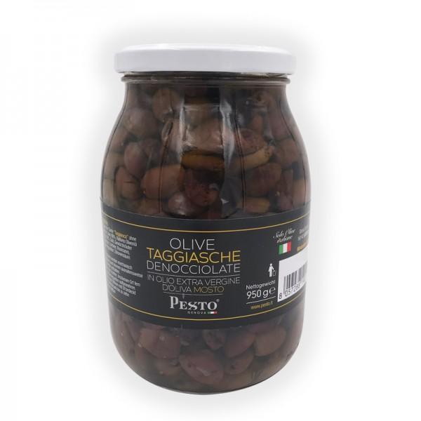 Taggiasca Oliven ohne Stein in nativem Olivenöl extra