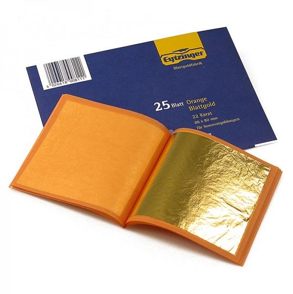 Blattgold in Buchform, 22 Karat