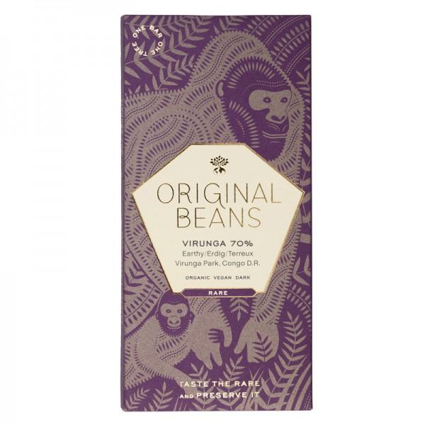 "BIO Schokoladentafel ""Virunga"" 70% Original Beans"