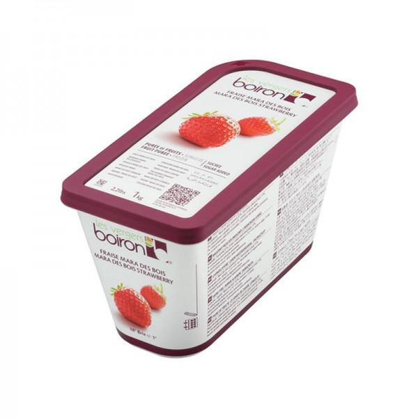 Erdbeerpüree Mara des Bois, leicht gezuckert, TK
