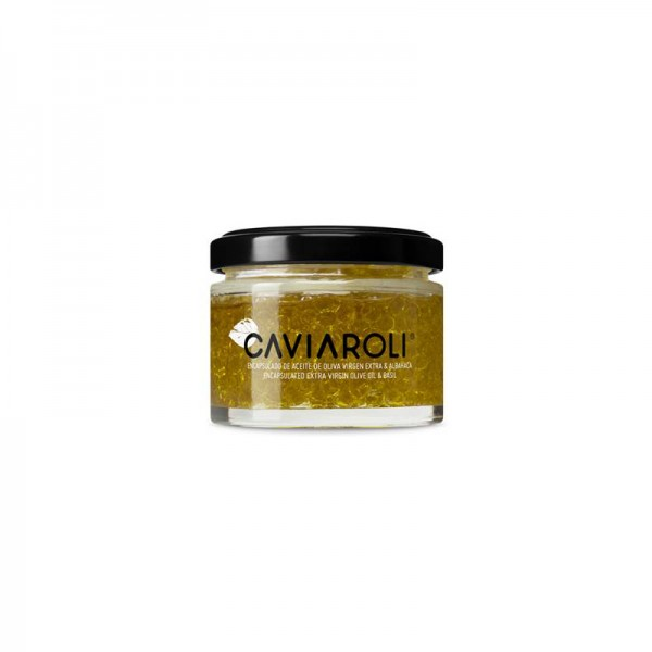 Caviaroli Olivenöl mit Basilikum