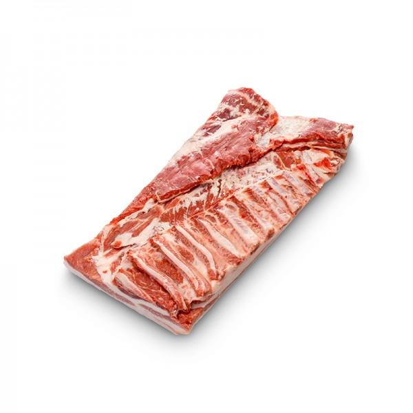 Schweinebauch vom Duroc Schwein, mit Knochen und Schwarte, Spanien