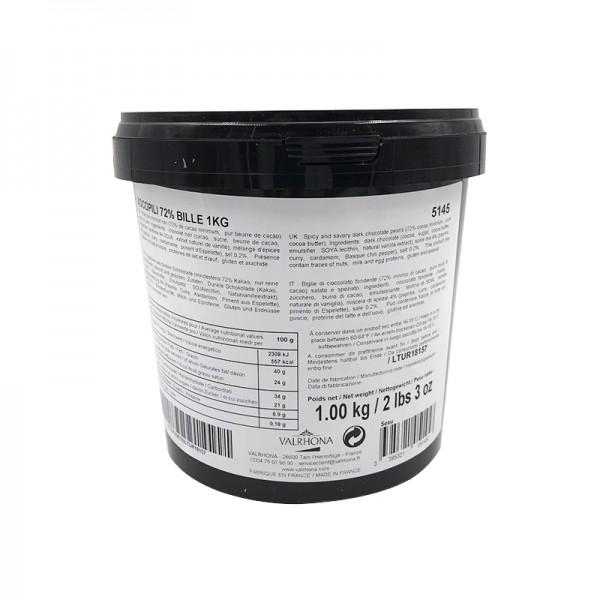 Würz-Kuvertüre Xocopili 72% dunkel