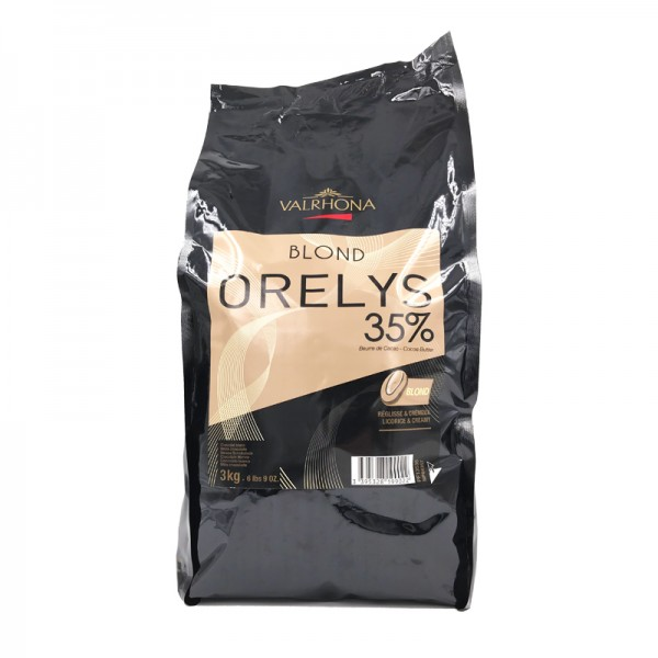 Kuvertüre Orelys 35% weiß