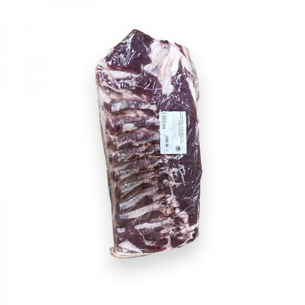 Schweinebauch vom schwäbisch-hällischen Landschwein, eingeritzt für Krustenbraten