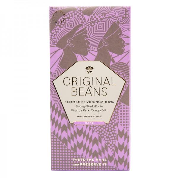 Schokoladentafel Femmes de Virunga 55%, BIO, Original Beans
